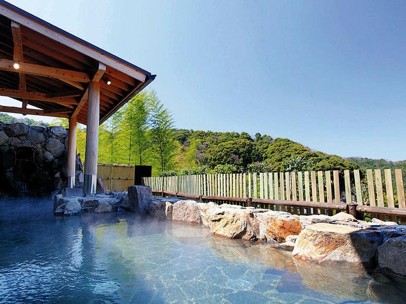 明恵峡温泉の露天風呂の写真
