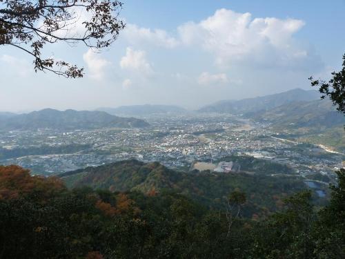 鳥屋城山眺め